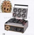 Electric 220V/110v sweet donut machine, waffle maker, round donut maker