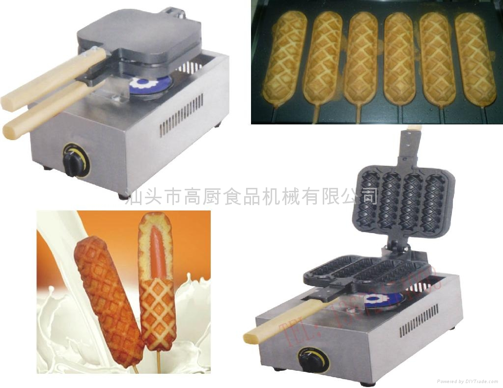 GAS hot dog maker/ French sausage machine/ Hot Dog Lolly Waffle maker machine 1