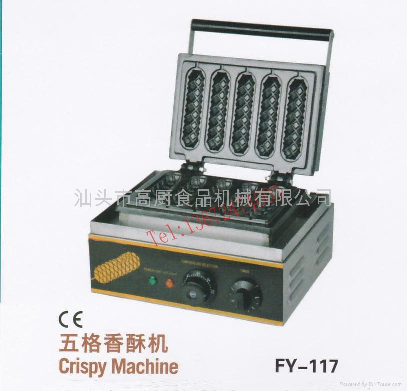 110V/220V with CE for 5 pcs hot dog machine / lolly waffle maker/ hot dog stick