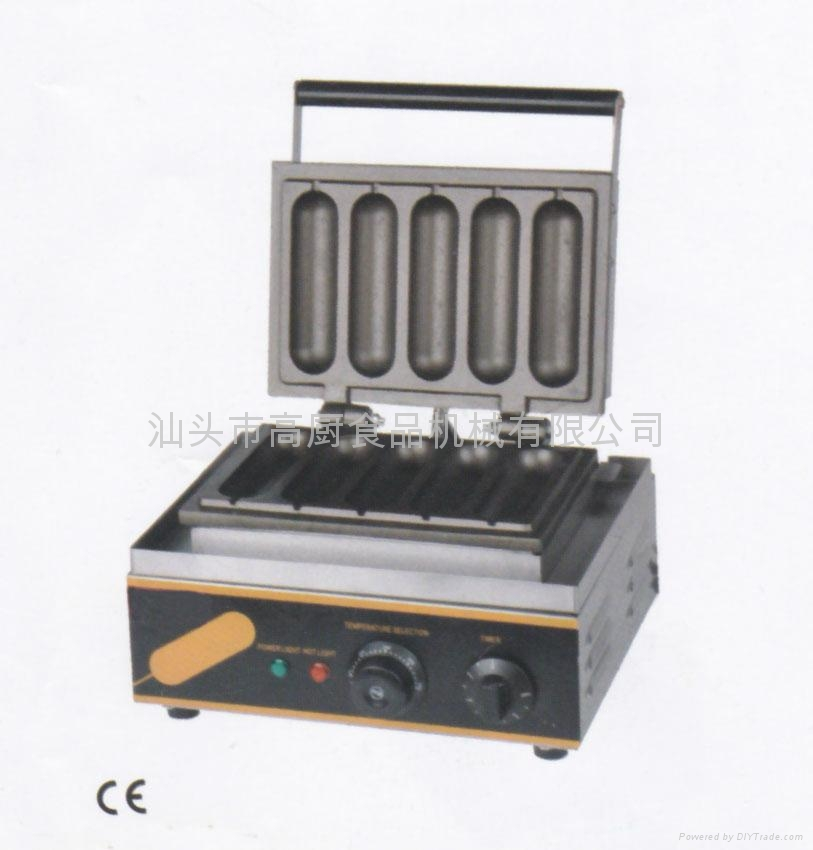 HOT 220v/ 110V hot dog machine,/ French sausage maker/Lolly Waffle maker 1