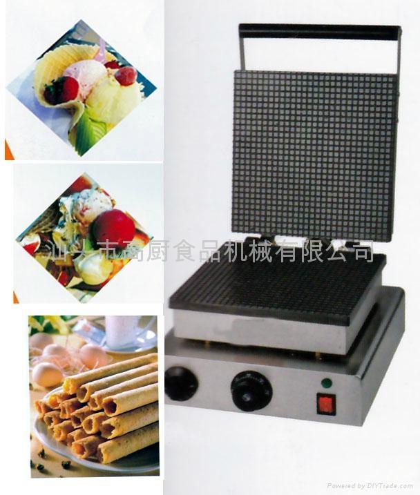 商用电热单头方形雪糕皮机,脆皮机/冰淇淋蛋筒机,蛋卷机 1