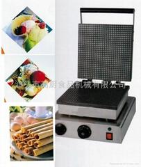 商用电热单头方形雪糕皮机,脆皮机/冰淇淋蛋筒机,蛋卷机