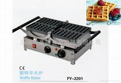商用電熱華夫爐 翻轉華夫爐,華夫爐;松餅機 華夫餅機 小食設備