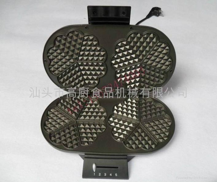 电热双头华夫机/家用早餐机/三明治机 华夫机 松饼机 烤面包机 多士炉 1