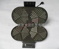 电热双头华夫机/家用早餐机/三明治机 华夫机 松饼机 烤面包机 多士炉