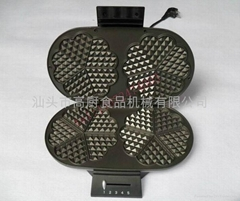 double-end of electric waffle pan/ waffle oven/ cake baker