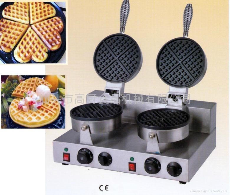 厂家正品直销!商用双头电热华夫炉 松饼机 小食烤饼机 华夫饼 1