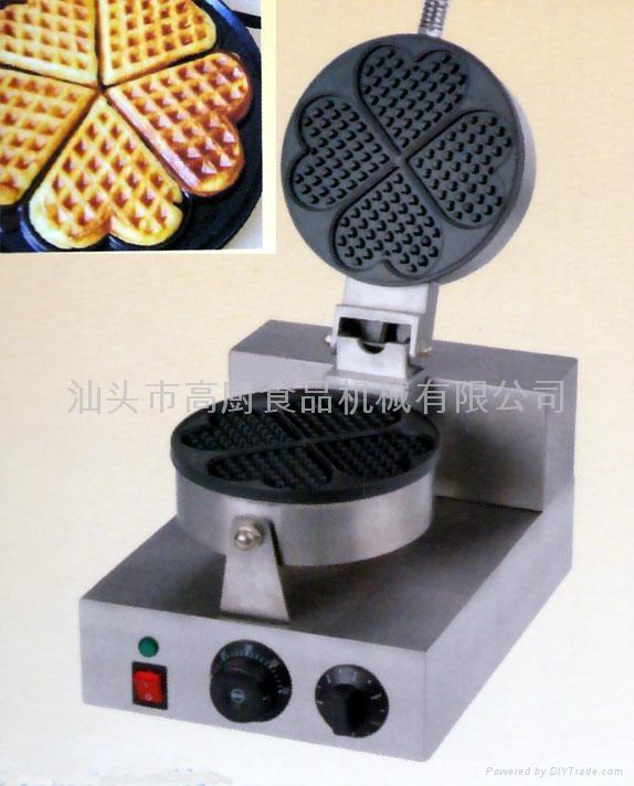 商用 小食设备新款 心型松饼机,心型华夫炉 华夫饼,心型威夫饼 1