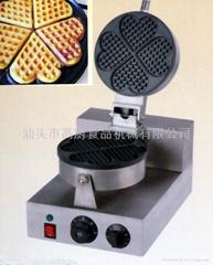 商用 小食設備新款 心型松餅機,心型華夫爐 華夫餅,心型威夫餅