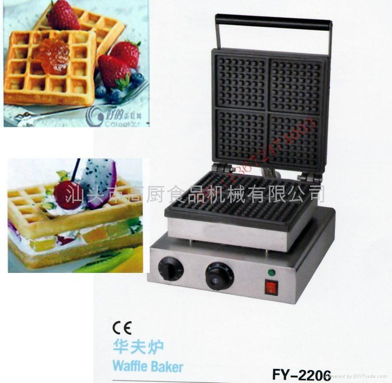 特价!商用四格不粘华夫炉、松饼机、烤饼机、华夫饼机、格子饼机 1