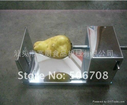 黃金薯片機薯塔機手動薯塔機手搖薯塔機土豆切片機螺旋薯塔送工具 2