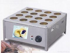 16孔台湾烹冠红豆饼机/车轮饼机 不粘锅 多饼模