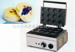 商用小食設備 電熱十二紅豆餅機,臺灣車輪餅紅豆餅機