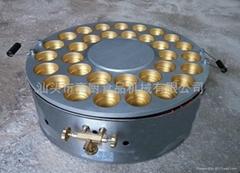 商用 32孔燃气红豆饼机 大判烧 旋转红豆饼机 车轮饼