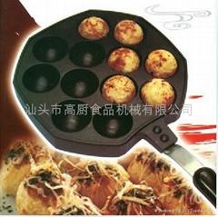 12孔章魚小丸子烤盤 章魚燒烤盤 模具 出口彩盒裝
