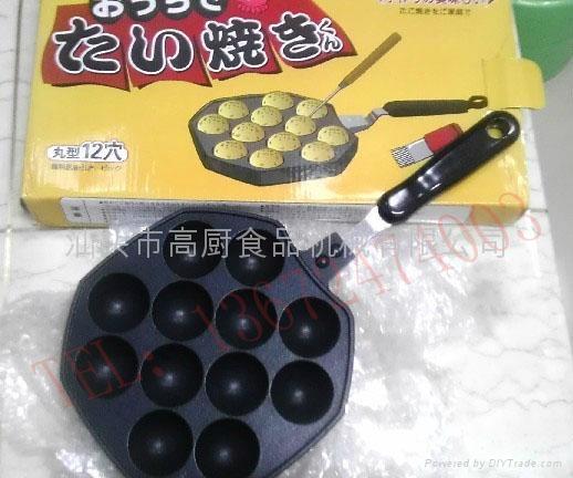 12孔章鱼小丸子烤盘 章鱼烧烤盘 模具 出口彩盒装 3