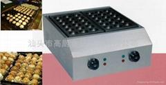 商用魚丸爐 大孔日式章魚燒 小吃設備 2板日式電章魚丸 大孔4.5cm