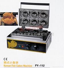 直销特价商用电热台湾小鱼饼、鱼饼仔机、雕鱼烧、烤鱼饼机送配方