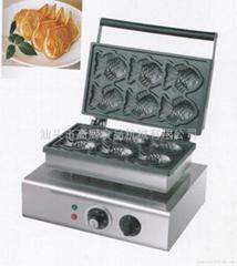 商用电韩式小鱼饼 鱼饼仔机 雕鱼烧 烤鱼饼机小食设备最新镜面板