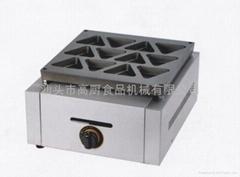GAS TYPE 16 hole Electric reb bean cake machine/ waffle maker/sandwich maker