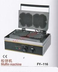 CE认证 松花饼机 电热华夫炉 小吃机械设备