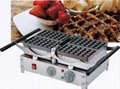 110V/220v Electric waffle baker, commercial waffle machine, can rolling-over