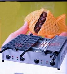 商用小食設備買送一 2排電熱鯛魚餅機,餅魚餅仔機 雕魚燒 魚仔餅