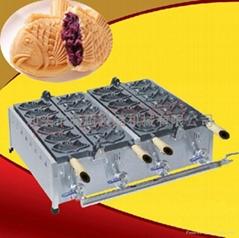 直銷!商用燃氣不粘鯛魚燒,韓式小魚仔餅機 烤魚餅機 送配方