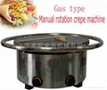 gas type can rotating Crepe machine/