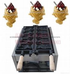 新款电热开口鲷鱼烧机 可放冰淇淋韩式烤鱼饼机