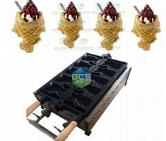 新款燃气开口鲷鱼烧机 韩式烤鱼饼机 冰淇淋华夫机