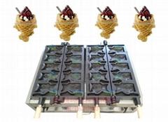 2015新款10條電熱開口鯛魚燒機 魚形雪糕皮機