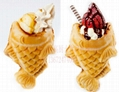 2015 Ice cream fish waffle machine Ice cream Taiyaki machine