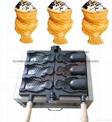 新款電熱冰淇淋鯛魚燒機韓國烤魚餅機鯛魚燒雪糕機