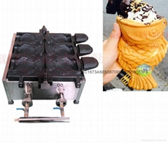 Gas type Ice cream Taiyaki making machine Fish cone Taiyaki maker