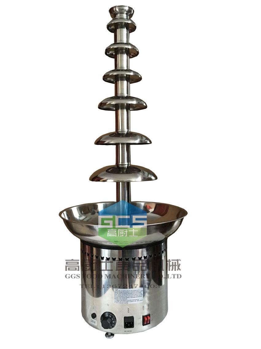 商用7层瀑布巧克力喷泉机朱古力喷泉机 2