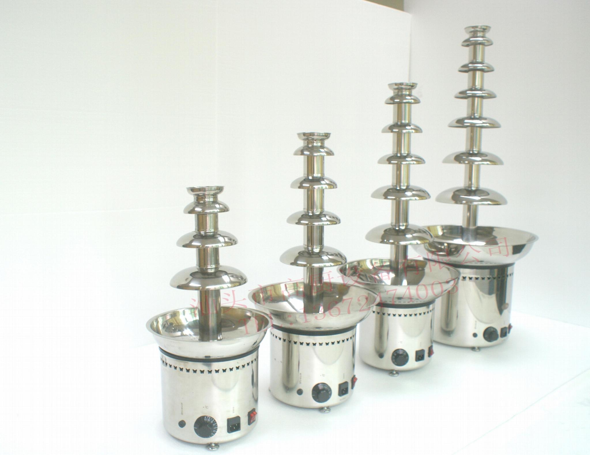 220V/110v 304不锈钢五层商用巧克力喷泉机 巧克力融化机 1