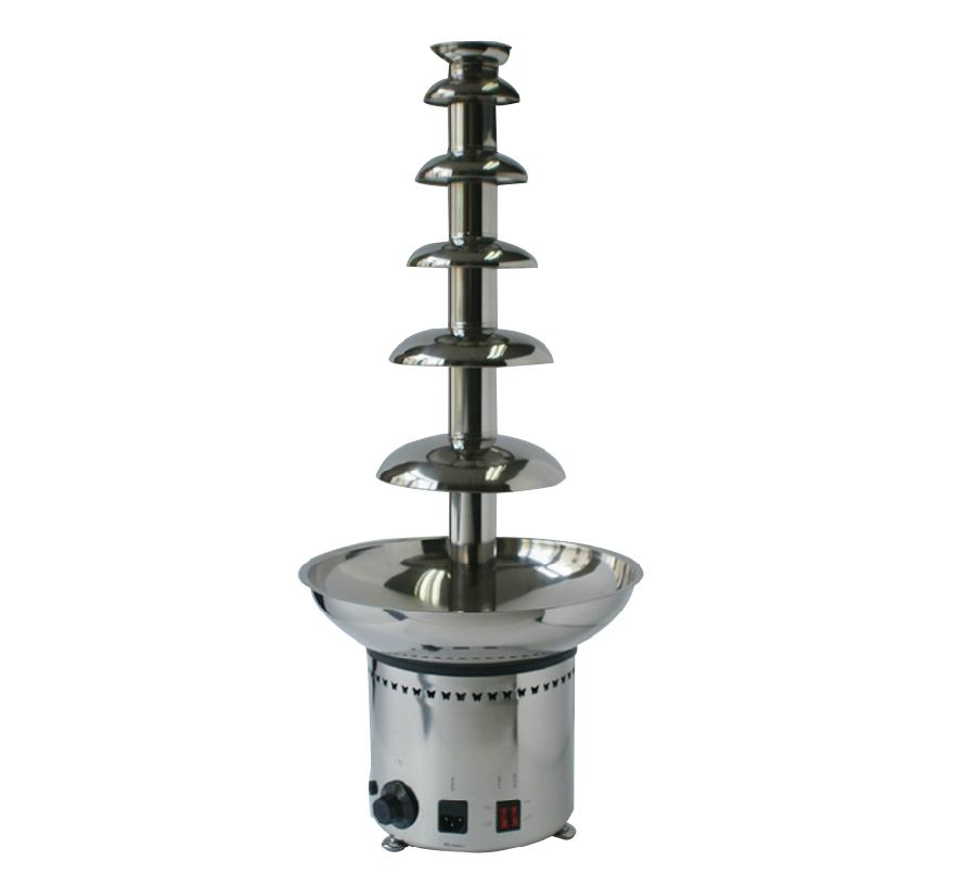 82CM 6 Tier Full 304 Stainless Steel Chommercial Chocolate Fountain Machine