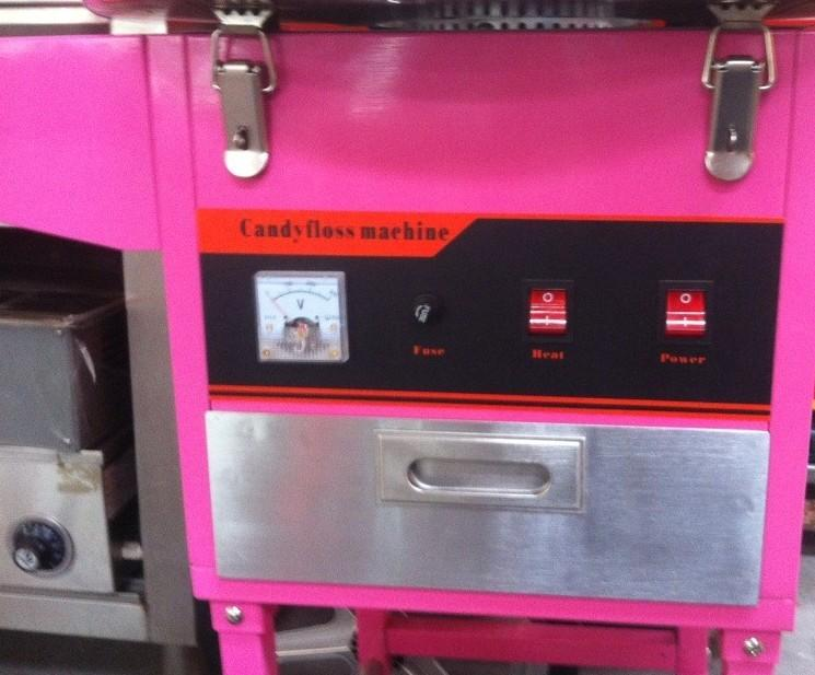 Electric Cotton candy machine with cart candy floss machine Good quality 3
