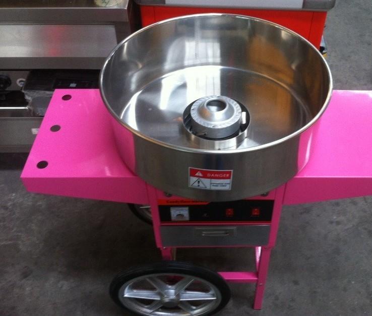 220V立式带轮商用棉花糖机棉花机带手推车 2
