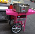 Electric Cotton candy machine with cart