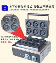 Electric 220V/110v sweet donut machine, waffle maker, round donut maker