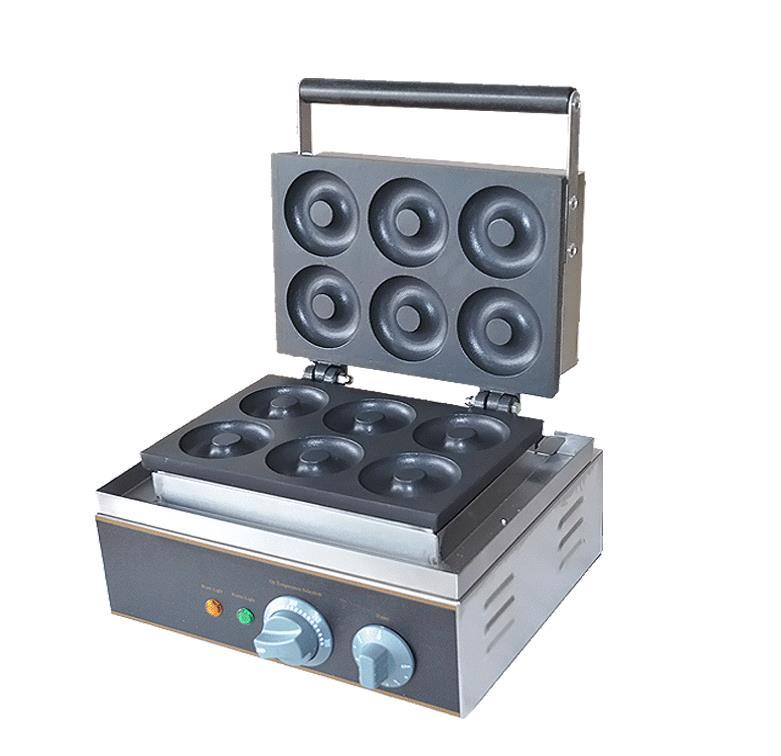 Electric 110v 220v 6 pcs Sweet Donuts Maker Machine Cookies Machine
