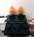 Electric 110v 220v Korean Ice cream Taiyaki Machine Open mouth fish waffle maker 4