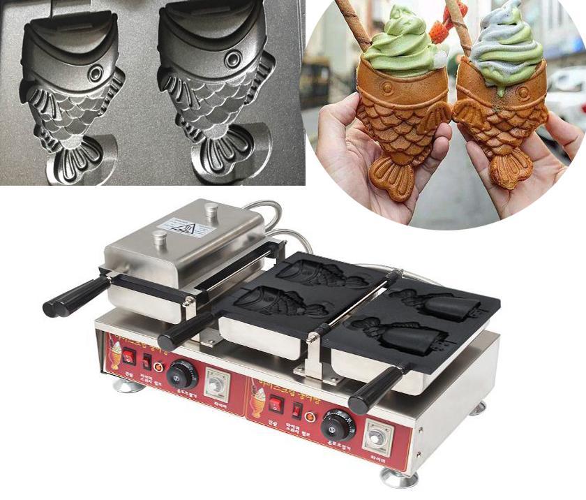 新款電熱開口雪糕鯛魚燒機韓式冰激凌開口魚機 3