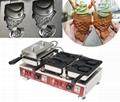 Electric 110v 220v Korean Ice cream Taiyaki Machine Open mouth fish waffle maker 3