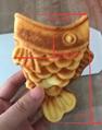 Electric 110v 220v Korean Ice cream Taiyaki Machine Open mouth fish waffle maker 2