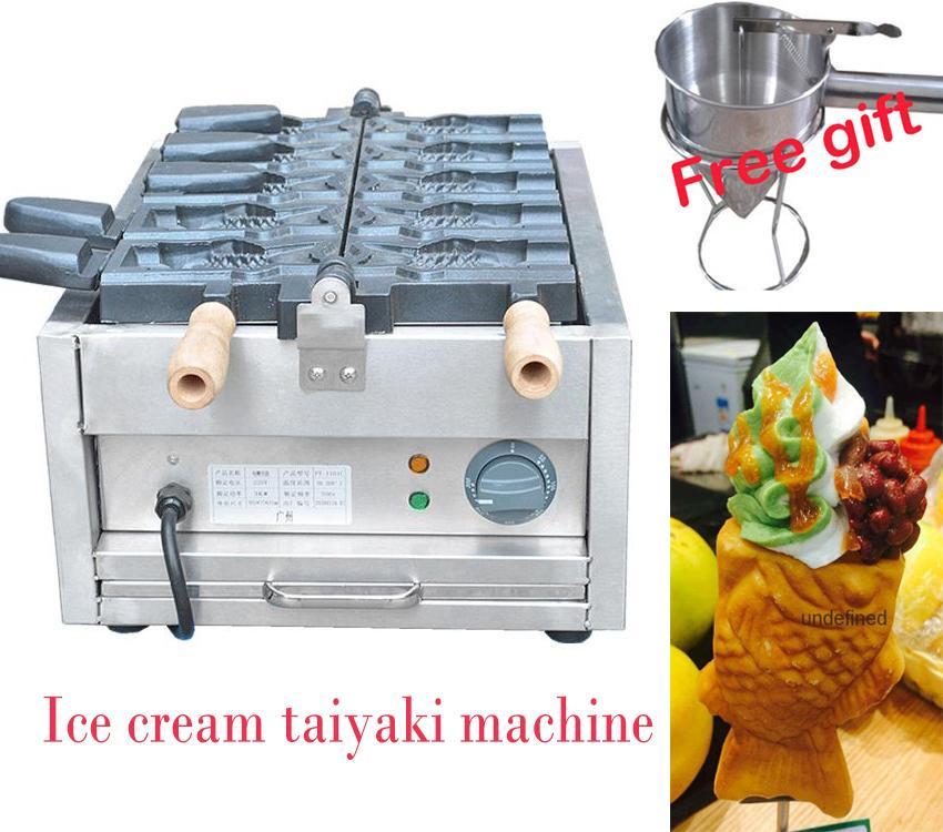 5 PCS New style electric open mouth Taiyaki machine Ice cream Taiyaki  1