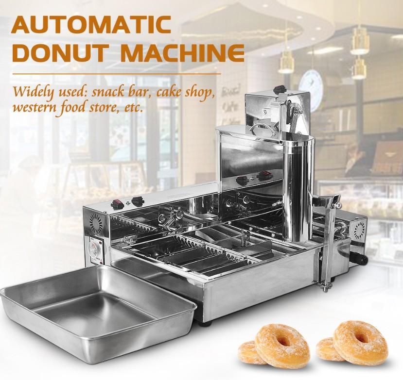 新款4排商用甜甜圈机大产量多拿滋机波提机 2