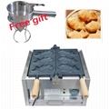 Electric 220v/110v 3 pcs Fish waffle maker Japanese style Taiyaki